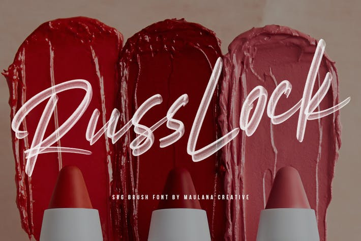 Thumbnail for Russlock SVG Brush Font