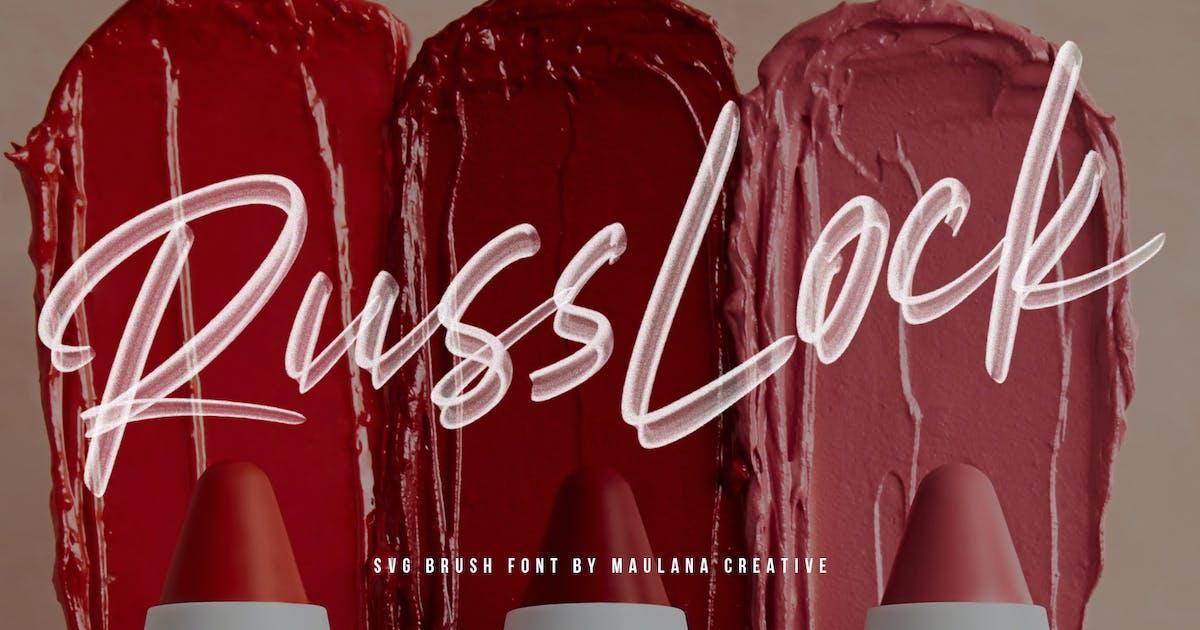 Download Russlock SVG Brush Font by maulanacreative