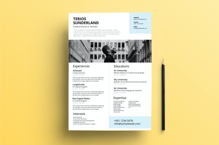 Thumbnail for Professional Resume/CV Clean & Minimal Design