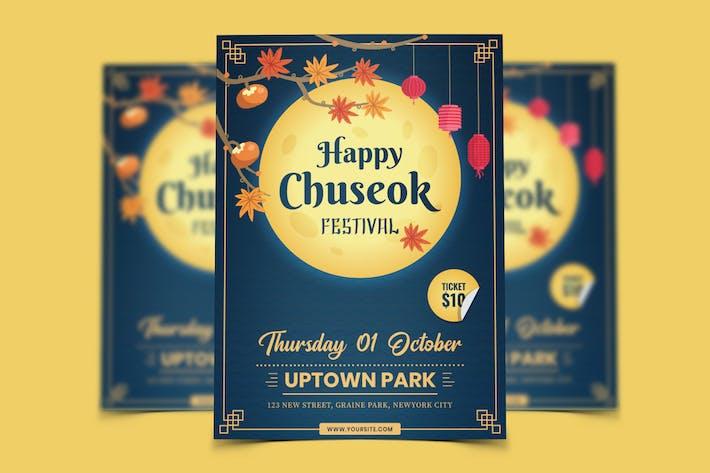 Chuseok Festival Flyer Template