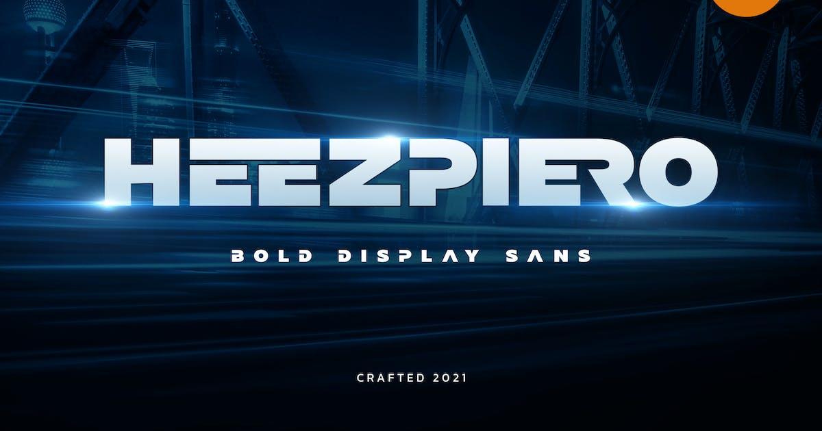 Download Heezpiero - Bold Display Sans by Alterzone