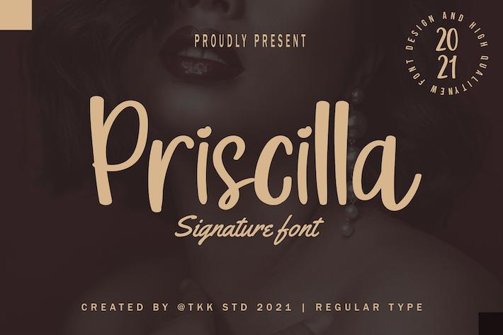 Priscilla - Cute Girly Font