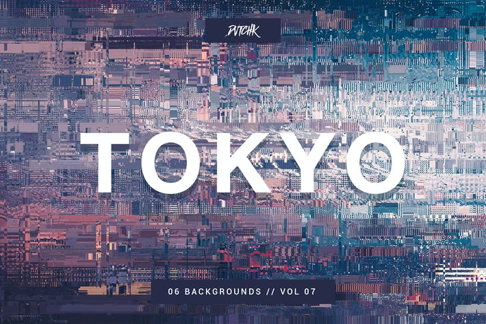 Thumbnail for Tokyo | City Glitch Backgrounds | Vol. 07