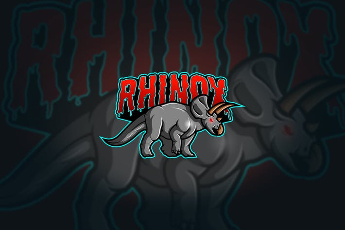 Thumbnail for Rhino - Mascot & Esport Logo