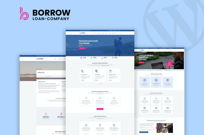 Cover Image For Borrow - Loan Company Responsive WordPress Theme