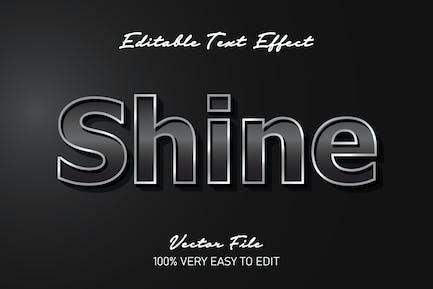 3d metal shine text effect