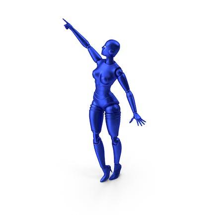 Blauer Roboter Woman