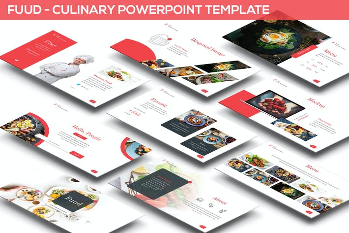 Thumbnail for Fuud - Culinary Powerpoint Template