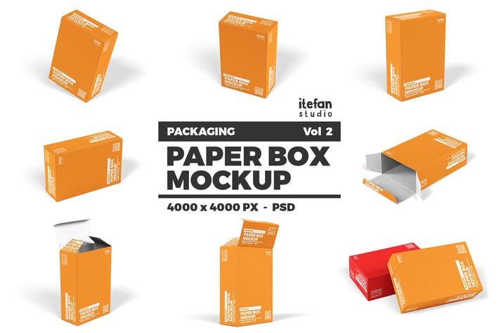 Thumbnail for Paper Box Mockup - Packaging Vol 2