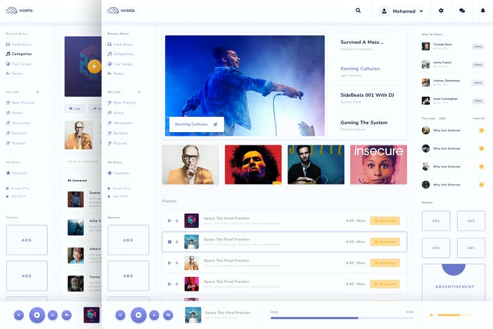 Thumbnail for Montu - Admin For Social Music Sharing Platform
