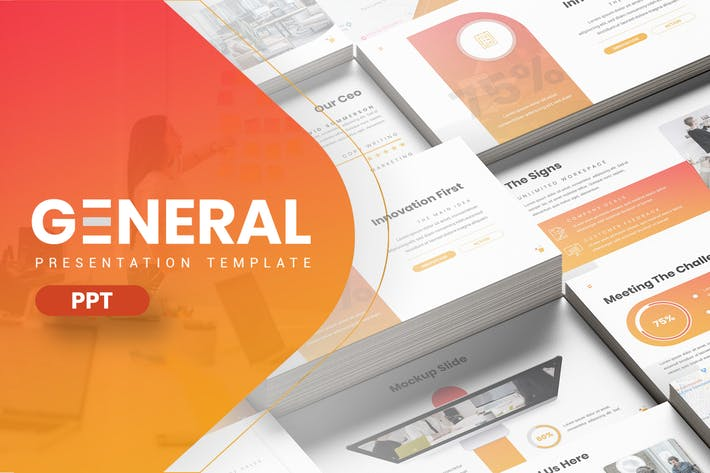 Thumbnail for General - Hexagonal Company Powerpoint Template