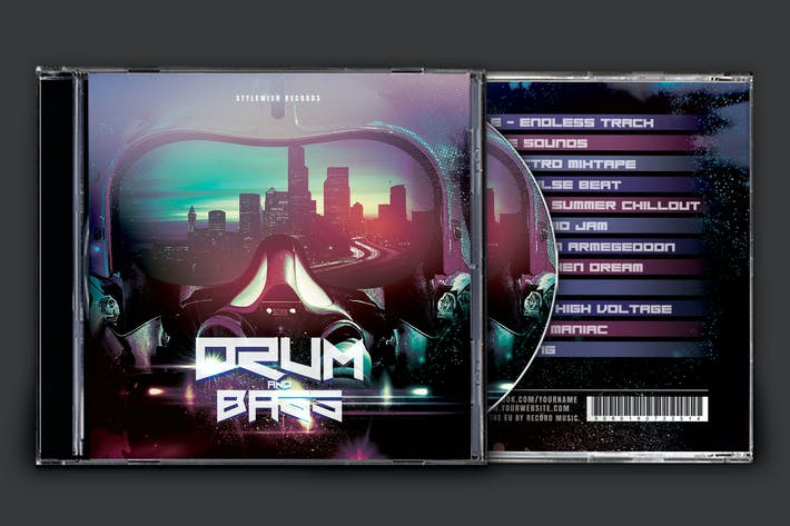 Thumbnail for Drum and Bass CD Cover Artwork