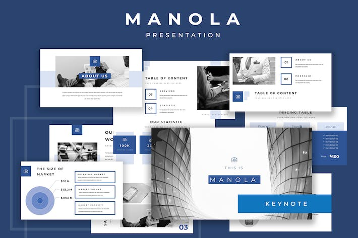 Thumbnail for Manola Pitch Deck Keynote Presentation