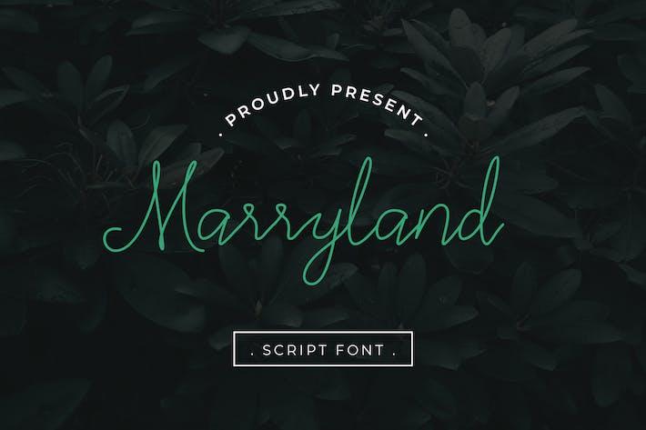 Cover Image For Marryland Handwritten Script Monoline