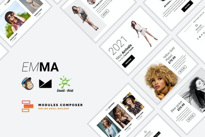 Thumbnail for Emma - E-commerce Responsive Email Template