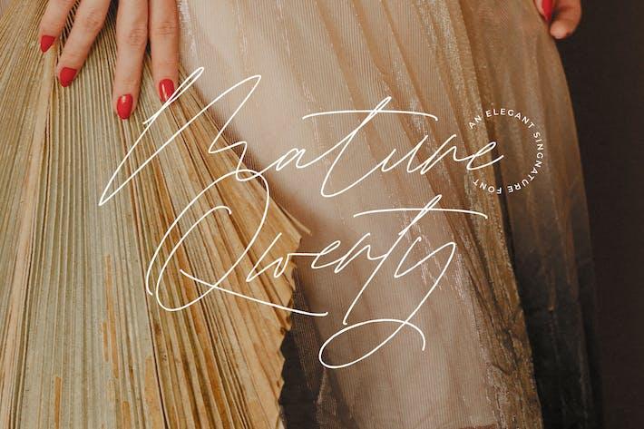 Signature Qwerty mature!