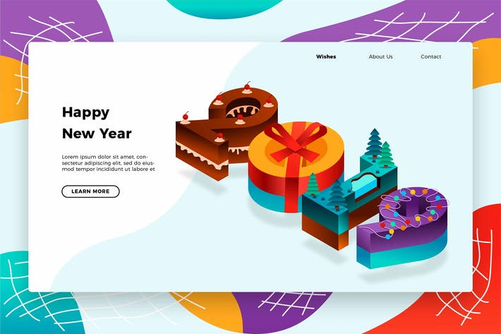 Thumbnail for Cake New Years 2019 - Banner & Landing Page