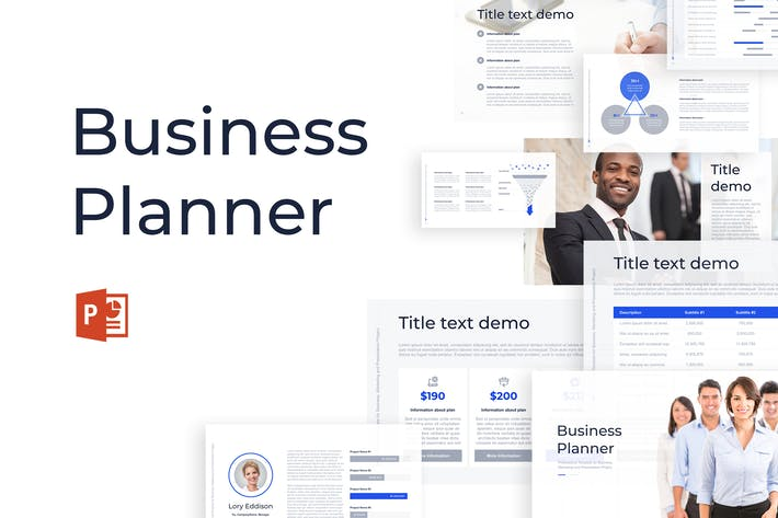 Thumbnail for Business Planner PowerPoint Template