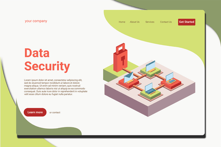 Data Security - Landing Page