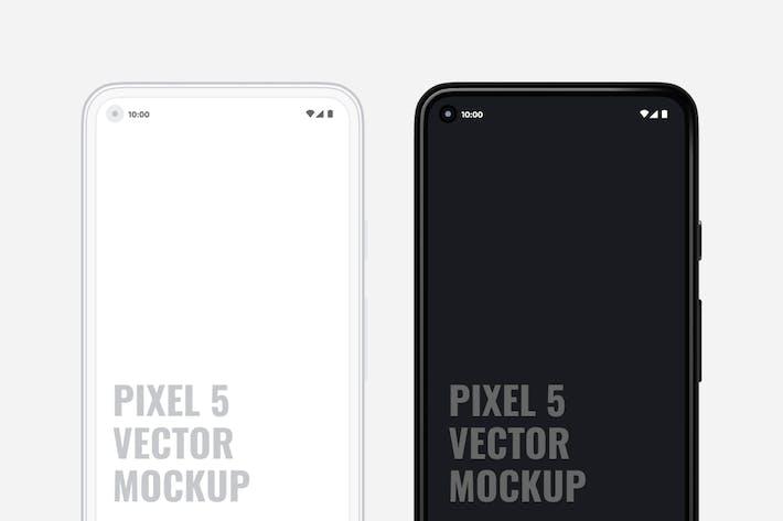 Thumbnail for Pixel 5 Vector Mockup