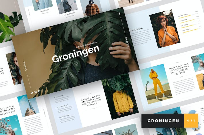 Thumbnail for Groningen - Minimal Google Slides Template
