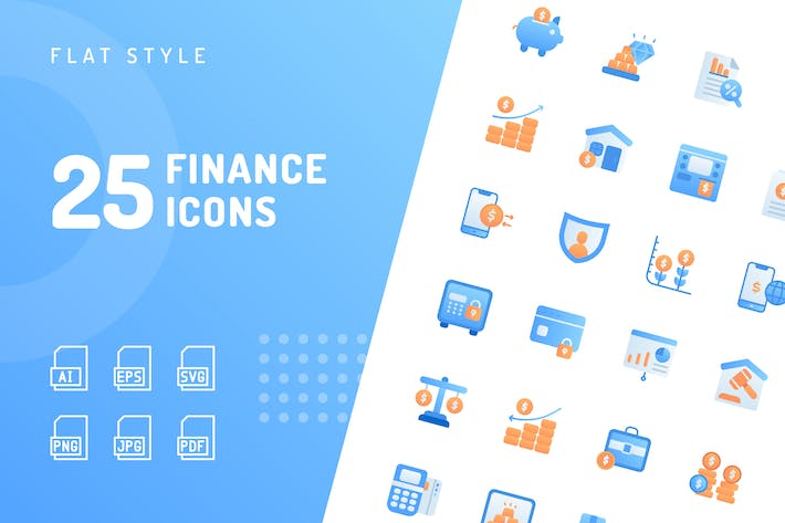 Thumbnail for Finance Flat Icons