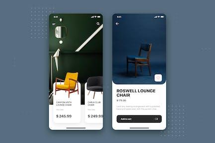 Furniture Store Mobile App UI Kit Template
