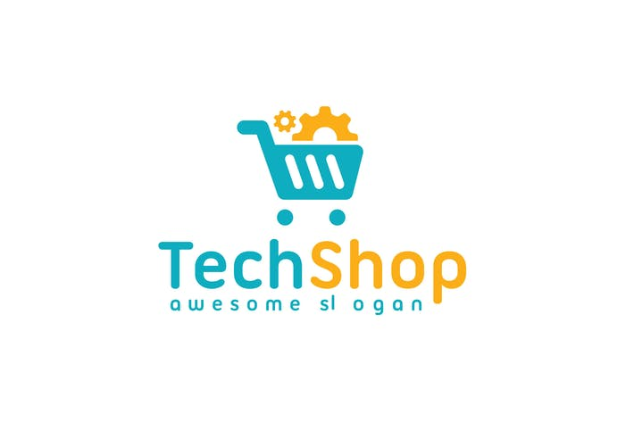 Thumbnail for Tech Shop Logo Template