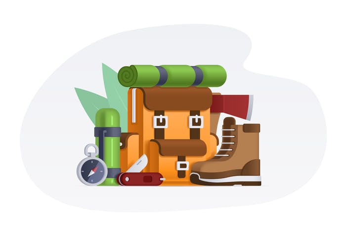 Thumbnail for Camping Items - Vector Illustration
