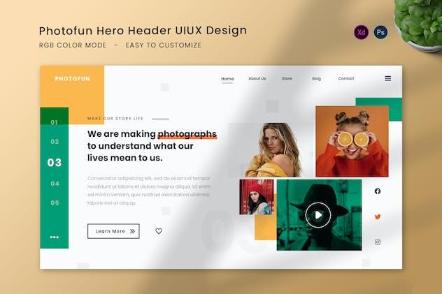 Photofun Hero Header