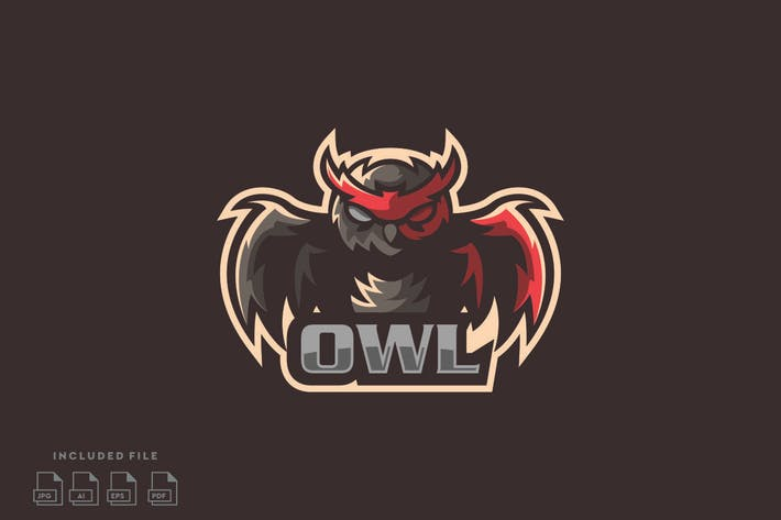 Thumbnail for OWL - Gaming E-Sport Logo Design