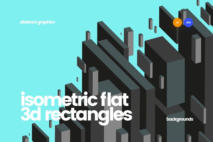 Thumbnail for Isometric Flat 3d Rectangles Backgrounds