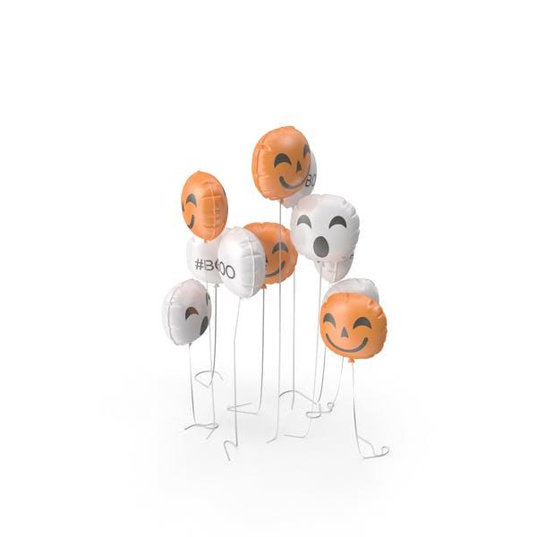 Thumbnail for Halloween Emoji Balloon Set