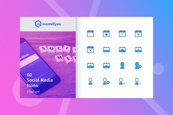 Thumbnail for Icontellyou - Social Media (Filled Line)