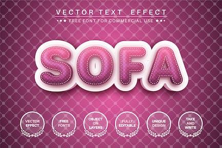 Soft sofa - editable text effect, font style