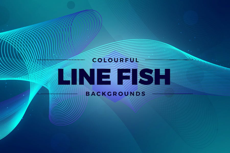 Colorful Line Fish Backgrounds