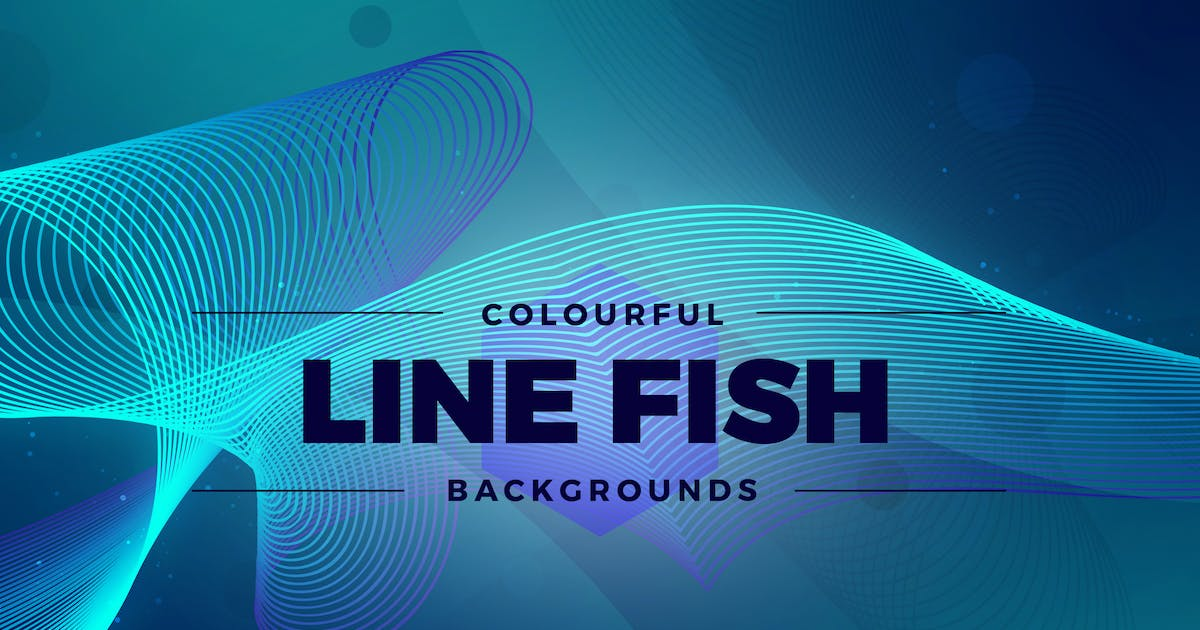 Download Colorful Line Fish Backgrounds by Shemul