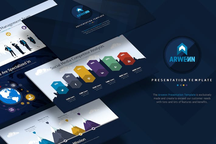 Cover Image For Arwenn - Multipurpose PowerPoint Template