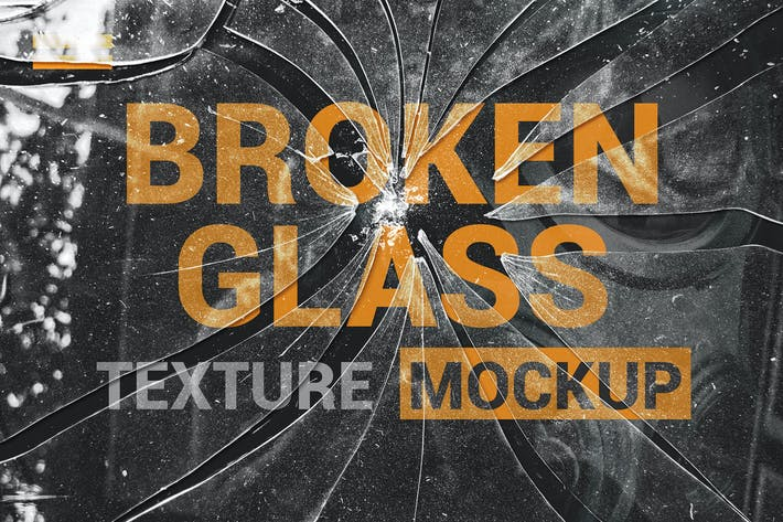 Thumbnail for Broken Glass Texture Mockup