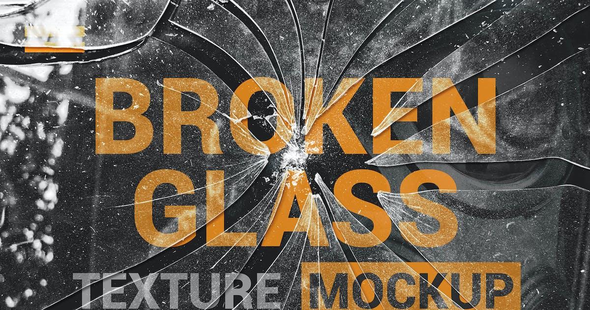 Download Broken Glass Texture Mockup by StreetD