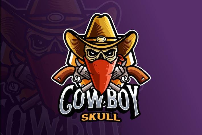 Thumbnail for Cowboy Skull Logo Template