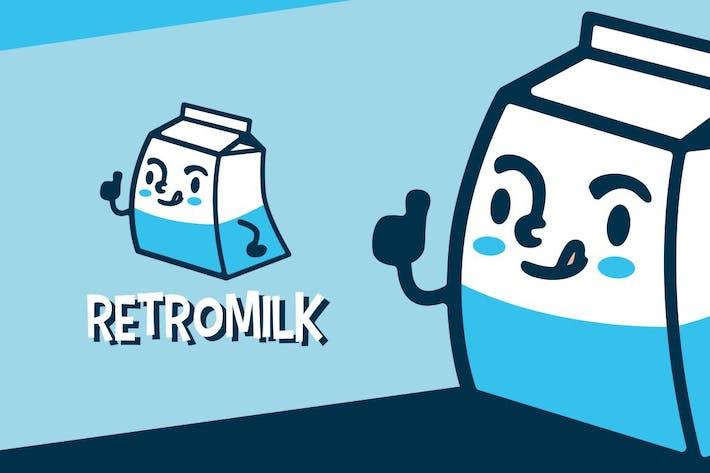 Thumbnail for Milch Retro Cartoon Maskottchen Logo Charakter