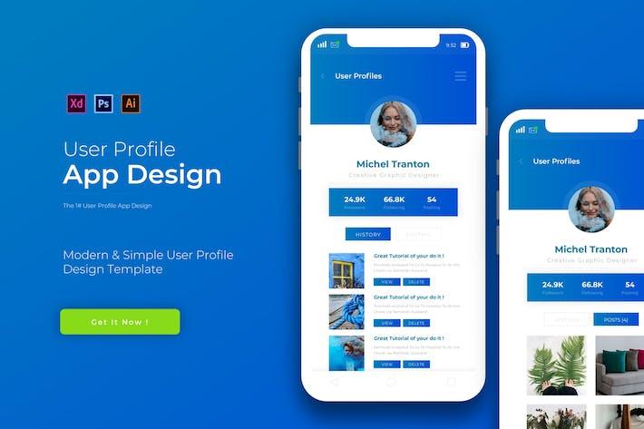 Thumbnail for Benutzerprofil | App Design Vorlage