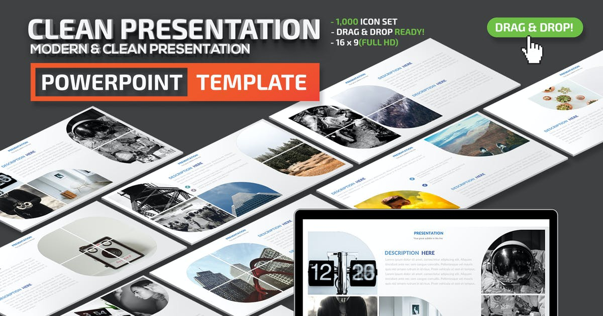 Download Clean Powerpoint Presentation Template by mamanamsai