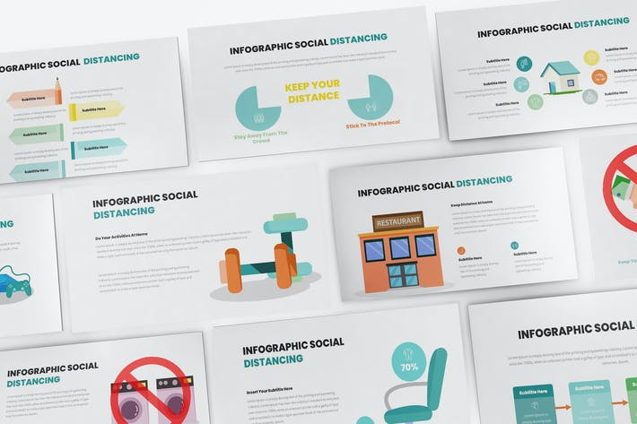 Thumbnail for Social Distancing Infographic Google Slides