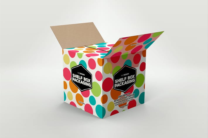 Thumbnail for Retail Shelf Box 19 Packaging Mockup