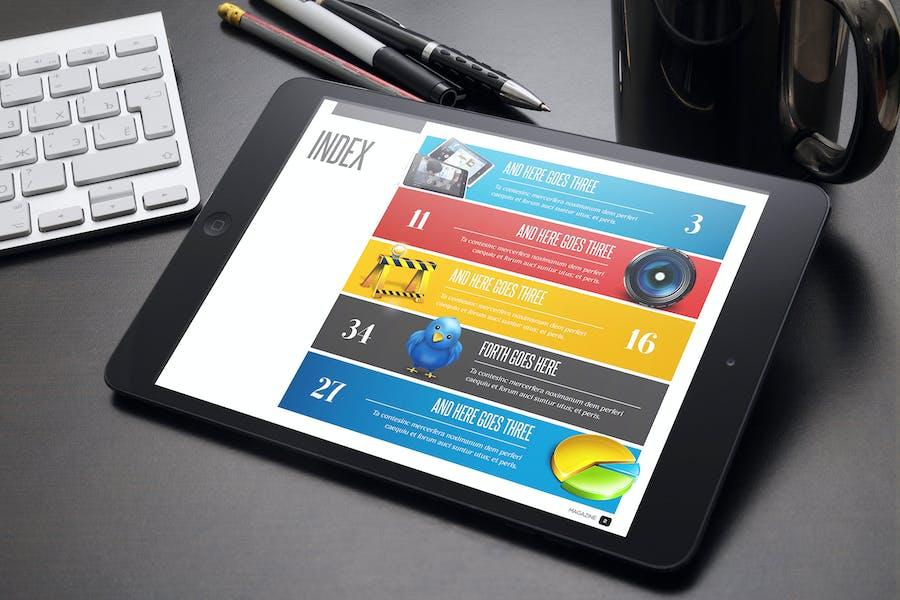 Design Magazine 2 for Tablet Indesign Template