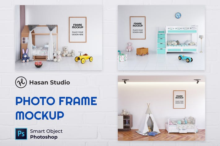 Thumbnail for Frame Mockup Kids Room - Nuzie