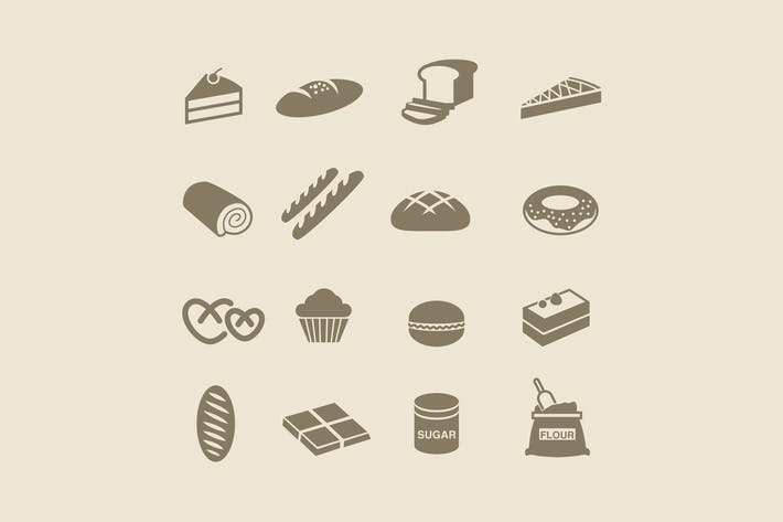 Thumbnail for 16 Bread and Patisserie Icons