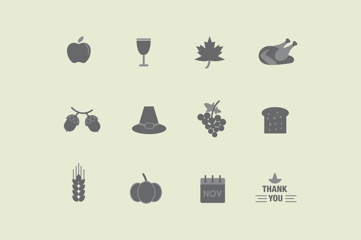Thumbnail for 12 Thanksgiving-Icons